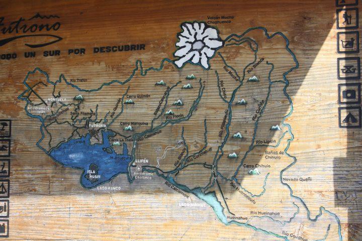 Mapa Turístico Lago Ranco